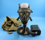 Wwii U.s. Army Service S Lightweight Gas Mask Canister Carrying Bag