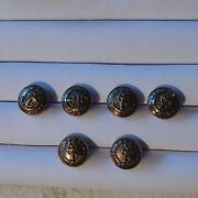 Vintage Canal Definitely Virus Navy/ Anchor Rope Bronze Buttons 6 Excellent...