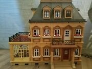 Beautiful Playmobil 5300 Victorian Dollhouse Mansion Set With Furniture See Desc