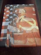 Vietnam Usa Flag Gas Mask Poster By Crm Inc 24 X 36 Dead Stock 1960and039s War Etc
