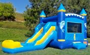 Commercial Inflatable Combo Bounce House Dolphin Slide Pvc Pool Without Blower