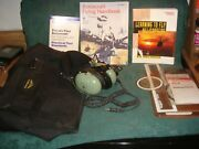 David Clark H10-76 Headset With Jeppesen Pilot Bag And Helicopter Training Books