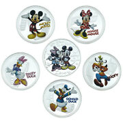 6pcs Disney Silver Plated Coins Challenge Metal Coin With Plastic Shell For Gift