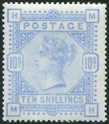 Sg 183a 10/- Pale Ultramarine. A Superb Unmounted Mint With Excellent Centering