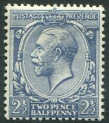 Sg 373a 2andfrac12d Dull Prussian Blue. A Superb Lightly Mounted Mint Example Rps Cert