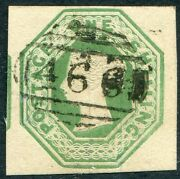 Sg 55 1/- Green Die 2. A Very Fine Used 4 Large Margin Example