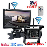 Wireless Ir Rear View Back Up Camera+7 Monitor For Rv Truck Bus Night Vision