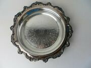 Vtg Ornate Poole Epca Silverplate Footed Serving/pie Tray W 10 Pyrex Dish 4683