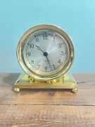 Mint Condition Chelsea Constitution Ball Base Brass Desk Clock W/ All Paperwork