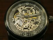 Tremont Automatic Skeleton Watch New Butterfly Clasp - Amazing Band - Tuxedo