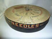 Antique Boye Rotary Needle And Shuttle Case / Store Display Loaded W/ Needle Tubes
