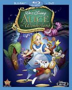 Alice In Wonderland Two-disc 60th Anniversary Blu-ray/dvd Combo - New And Sealed