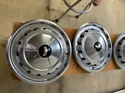 6six 1957chevrolet Bel-air 14 Inch Ss Hubcaps In Very Good Condition .