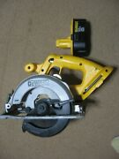 Dewalt 18v Cordless 6-1/2 Circular Saw Dc390 With Blade And Battery