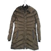 Vince Camuto Puffer Jacket Full Zipper Side Pockets Long Sleeve Brown Size Small