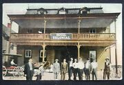 Antique Postcard 1914 Colonial Hotel Main St. Crisfield Mary Sunny Bank Postmark