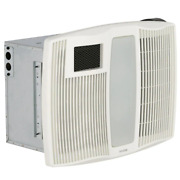 Qt Series Very Quiet 110 Cfm Ceiling Bathroom Exhaust Fan With Heater, Light And