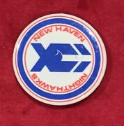 Vintage 1980's New Haven Nighthawks Ahl Hockey Team Pin Pinback Button Early Old