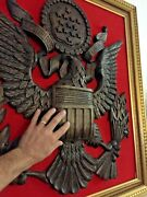 24 X 28 Inch Hand Carved Wood Plaque Eagle E Pluribus Unum Usa Great Seal Crest