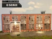 G Scale Scratch Built Andldquo Industrial 1 Andldquo Factory Building Flat Led 1/24 1/32