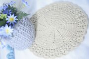 New Doily Crocheted Lot Of Table Handmade Cotton Doilies Crochet Hand Round