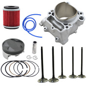 For Yamaha Yz250f Wr250f 2001-2013 Cylinder Piston Ring Filter And Valve Kit 77mm