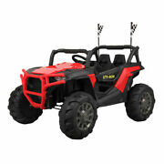 12v Kids Ride-on 3-speed Truck Suv Car W/mp3 Led Bluetooth Remote Control Red