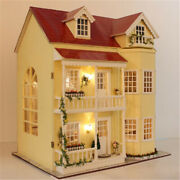 Fairy Tale Dollhouse Miniature Large Doll House Wooden Toys Cute Educational Toy