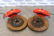 15-21 Dodge Charger Challenger Hellcat 6.2l Oem Front Brake Calipers N Rotors