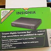 Insignia Ns-dxa1 Apt Hd Digital To Analog Tv Converter Box W/ Remote And Rf Cable
