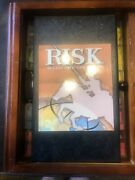 Risk Vintage Game Collection Wood Box Book Shelf Edition