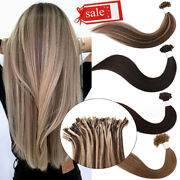 8a 200s Invisible Pre Bonded Glue Nail U Tip Remy Human Hair Extensions 1g/s Us