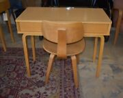 Thonet Mid Century Desk And Bentwood Chair Console Table