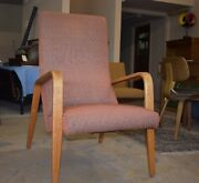 Thonet Mid Century Modern Bentwood Highback Upholstered Chair