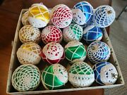 Christmas Ball Ornaments With Hand Crochet Cover Decor Set Of 20
