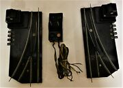 American Flyer Track Switches 720 A - Left /right + Controller -tested Ok