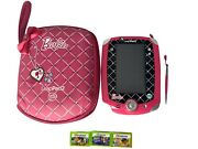 Barbie Leap Frog Leappad 2 Game System Pink Case W/3 Games No Charger