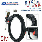 Mig Welder Spool Gun Push Pull Feeder Aluminum Welding Torch With 5m Wire Cable