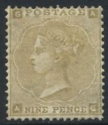1862-64 Gb Qv 9d Sg 87 Part O.g. Cat Andpound4000