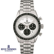 Revue Thommen 17000.6132 Aviator Automatic Black Silver Steel Menand039s Watch New