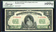 1917 Dominion Of Canada 1 - Dc-23a-ii. Legacy Very Fine 35 Ppq. S/n P-850860/c