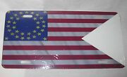 United States 35 Star Cavalry Guidon Flag License Plate 6 X 12 New Aluminum