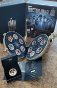 Doctor Who 50th Anniversary 2013 1/2oz Silver Proof Twelve-coin Set. Niue.