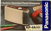 Vintage Panasonic Kp-4a Battery Operated Pencil Sharpener New In Box Beige