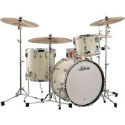 Ludwig Classic Maple 3-piece Fab Shell Pack W 22 Bass Drum Vintage Marine Pearl