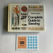 Reader's Digest Complete Guide To Sewing Hardcover Book And Sewing Tutorial Cards