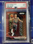 2018-19 Panini Prizm Trae Young Ruby Wave Prizm Rookie Card Rc Psa 9