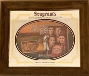 Seagram's Sports Mirror Collection - 24 + 3 Plaques + 1 Old Style Beer Mirror