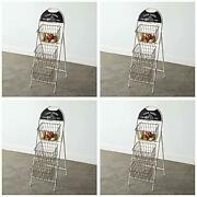 Home Collection 770427 Farm Fresh Three Basket Display, 42-inch Height