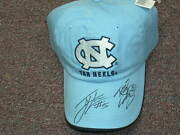 Tyler Hansbrough And Ty Lawson Signed Basketball Hat Cap Unc Tar Heels 2009 Champs